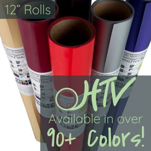 The store image for ThermoFlex® Plus Matte 12″- it shows a set a rolls and advertises there are over 90 colors of ThermoFlex® Plus Matte 12″
