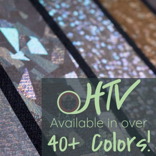 The store image for DecoFilm® Soft Metallics - it shows a close up of DecoFilm® Soft Metallics and advertises there are over 40 colors of DecoFilm® Soft Metallics HTV