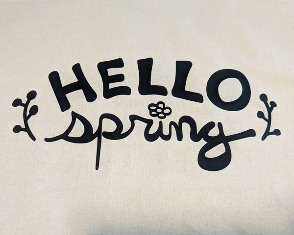 Hello Spring Cut File
