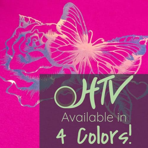The store image for DecoFilm® Glitter Chameleon - it shows a rose and butterfly and advertises there are 4 colors of DecoFilm® Glitter Chameleon