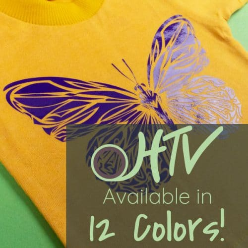 The store image for DecoFilm® Gloss - it shows a butterfly and advertises there are 12 colors of DecoFilm® Gloss