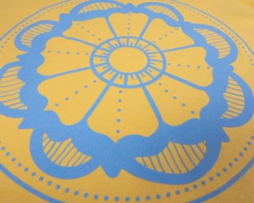 The Flower Mandala cut file in Ice Blue DecoFlock® Premium Plus