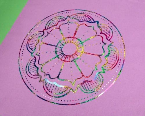 The Flower Mandala cut file in Round Multi DecoSparkle®