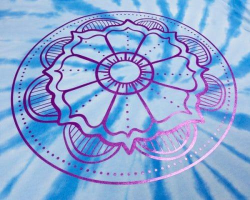 The Flower Mandala cut file in Purple PearlFlex™